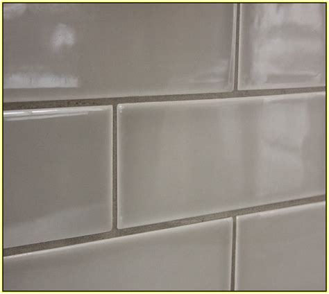 light gray subway tile home design ideas