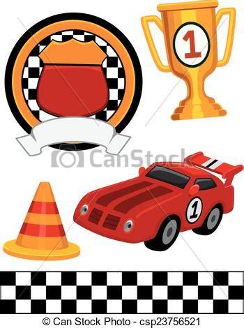 street racing design elements vector vector illustration of car racing design elements