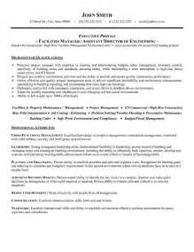 Facilities Operations Manager Sle Resume 78 best images about operations resume templates sles on business operations a