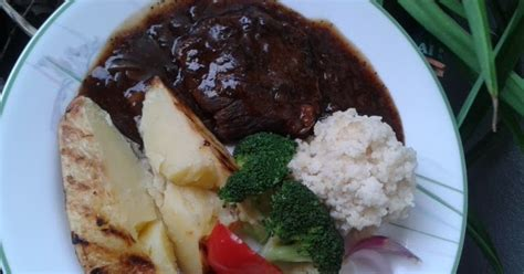 Stik Lada Hitam stik daging lembu sos lada hitam