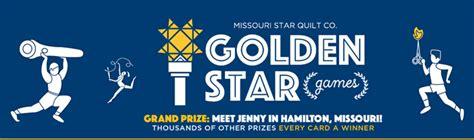 Missouri Sweepstakes - msqc co goldenstar missouri star quilt co golden star games 2016