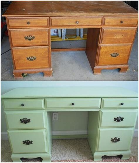 Diy Painted Desk Diy Painted Thrift Store Desk Centsational