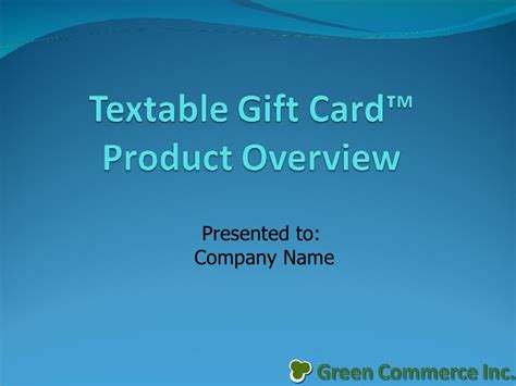 Gift Card System - mobile phone textable gift card system