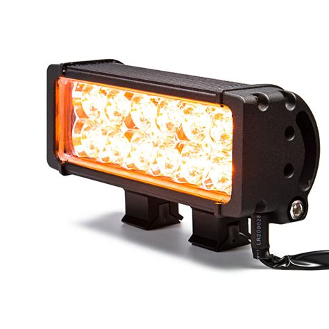 off road light housing 7 5 quot dual row heavy duty off road amber led light bar