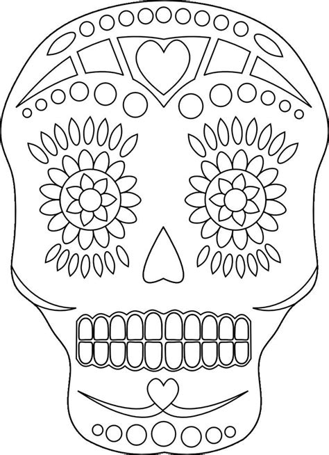 day of the dead skull coloring pages coloring home