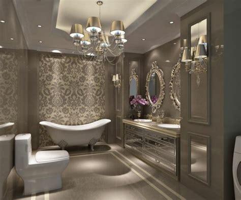 tapeten für badezimmer kronleuchter badezimmer idee