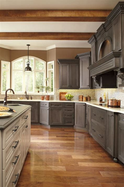Conestoga Kitchen Cabinets Conestoga Cabinets Traditional Kitchen Colour Schemes Other Metro Brown Walls Ceiling Beams