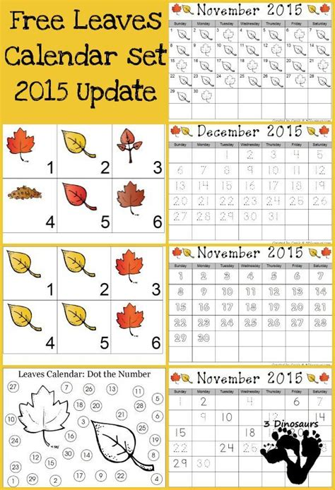 printable calendar numbers for november 198 best images about calender time for kids on pinterest
