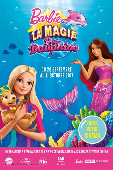 film barbie in streaming barbie dolphin magic french movie poster