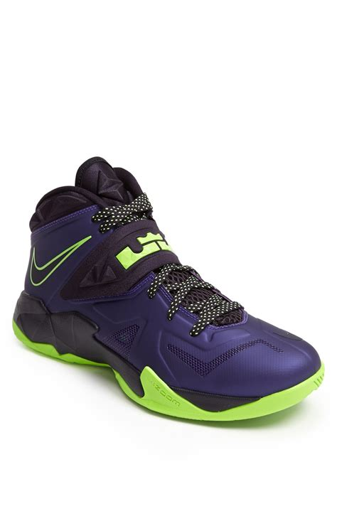 lebron basketball shoes nike lebron zoom soldier vii basketball shoe in purple for