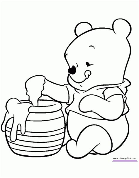 Baby Winnie The Pooh Drawings Coloring Pages Winnie The Pooh Baby Kids Coloring Europe Drawing For To Color