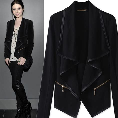 Blazer Style Black 59 2015 autumn fashion black blazer plus size casual jacket coat winter blazer feminino free