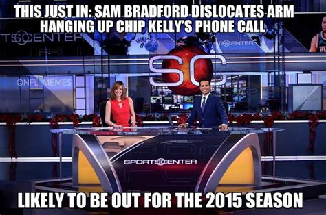 Sam Bradford Memes - sam bradford injured again nfl memes pinterest eagles
