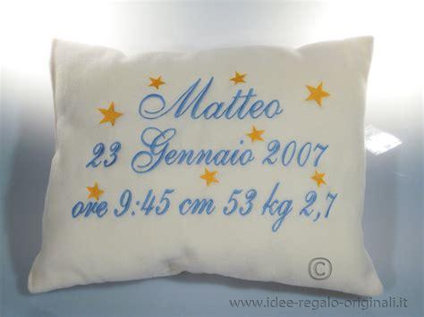 cuscino nascita cuscino nascita celeste idea regalo