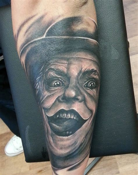 collection of 25 joker face tattoo for you