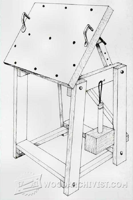 relief carving workbench plan woodarchivist