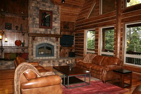Log Home Interior Photos | california log home kits and pre built log homes custom