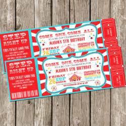 vintage circus carnival invitation ticket invitation