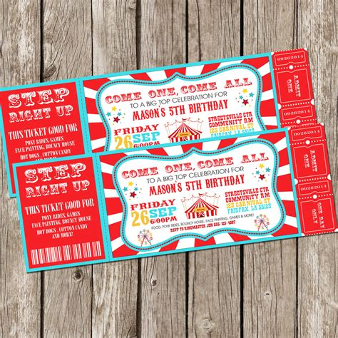 printable carnival tickets templates free printable movie ticket invitations