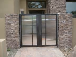 Glass Enclosed Wine Cellar - glass gate frosted and etched glass reeded gate glass