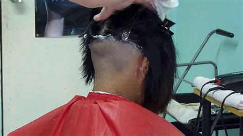 barber girl nape shave youtube shaved nape haircuts for women stories short hairstyle 2013