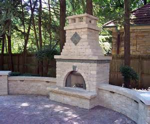 outdoor brick fireplace designs fireplace designs