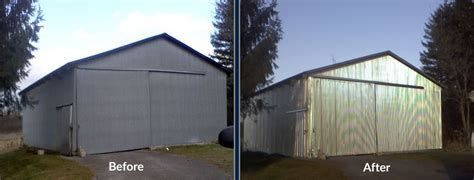 how to paint steel siding on a house metal building painting central indiana white s painting and power washing