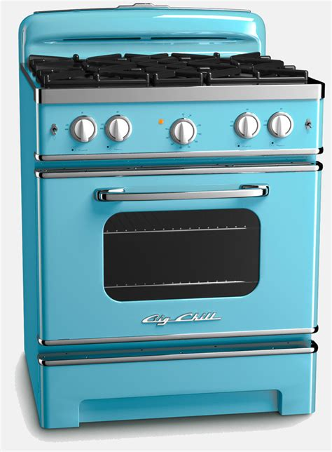 kitchen stove colored appliances in retro kitchens