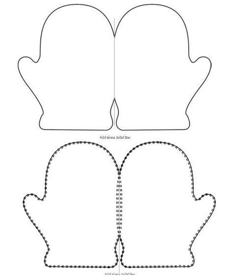 printable mitten card template templates