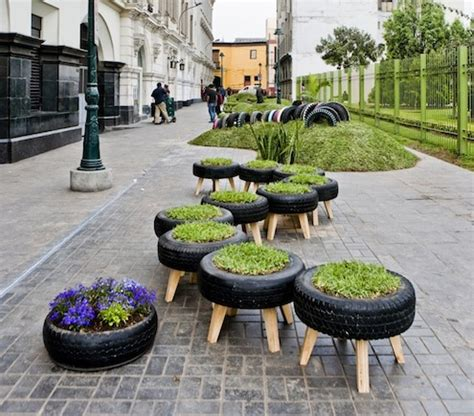 Tires As Planters by Recycle Reuse Rediscover Tires The Tub Connection