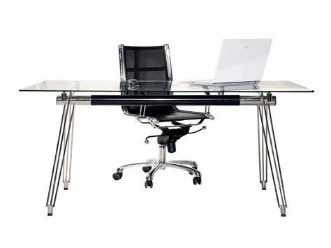 bureau des hypoth鑷ue bureau design en verre 160x80 cm ue tendance meubles