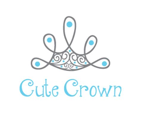 cute logo pattern cute abstract crown designed by dalia brandcrowd