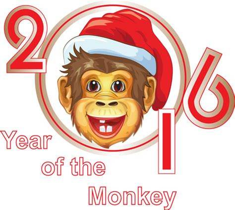 new year 2015 metal monkey monkey with 2016 new year vectors 05 vector animal