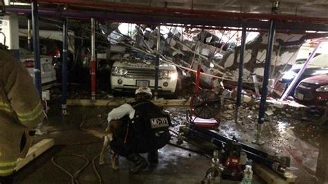 search rescue crews at of quot pancake collapse quot at