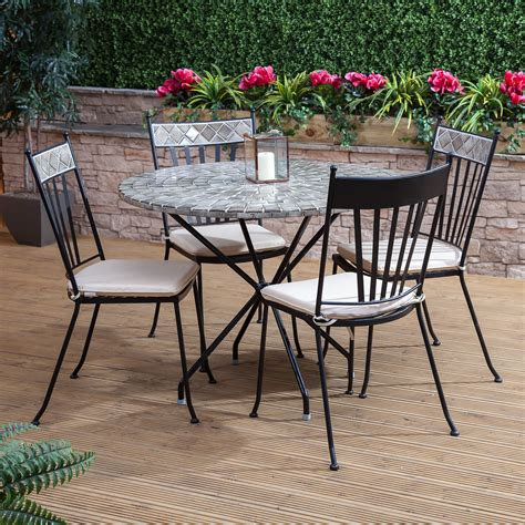 mosaic round ceramic 4 seater outdoor garden furniture