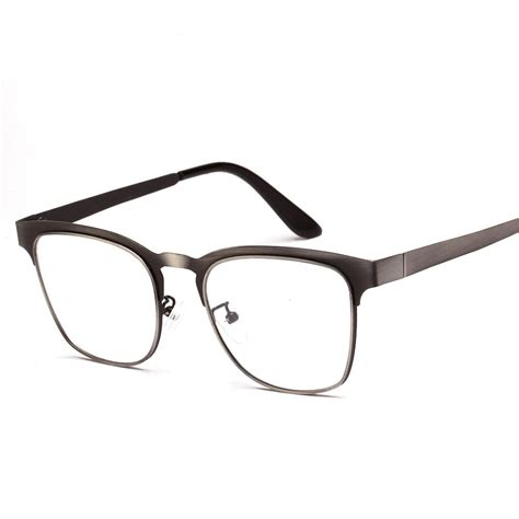 Metal Frame Square Glasses high quality stainless steel metal frame myopia