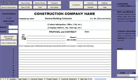 proposal and contract template uniform invoice software