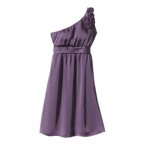 Target Bridesmaid Dress by S Satin Oneshoulder Rosette Bridesmaid Dre Target