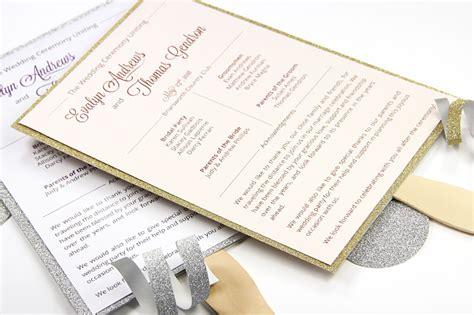 paper fan wedding programs your own glitter layered wedding program fan