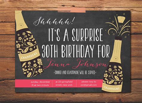 17 outstanding surprise party invitations designs