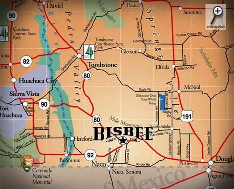 bisbee az map map iof bisbee bisbee tombstone arizona