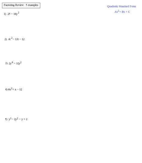algebra worksheet section 10 5 factoring polynomials of the form algebra worksheet section 10 5 factoring polynomials