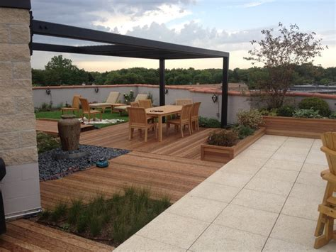 roof garden patio chicago by