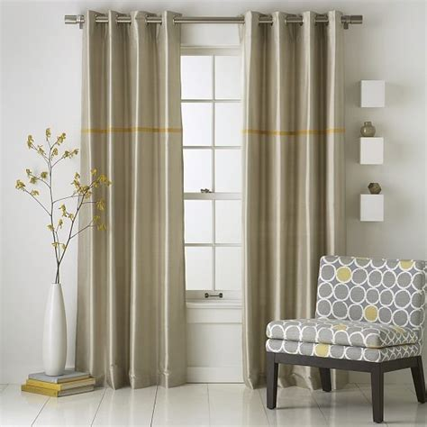 Contemporary Window Curtains Modern Stripe Silk Window Panel Modern Curtains By