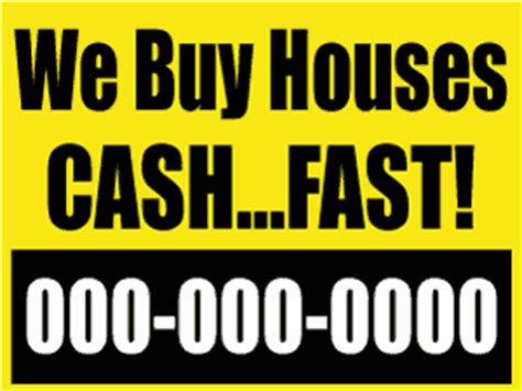 We Buy Houses Signs by Bandit Sign