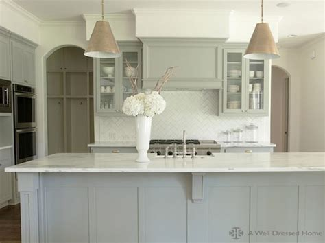 gray distressed kitchen cabinets with marble herringbone beautiful gray kitchen white marble tops white