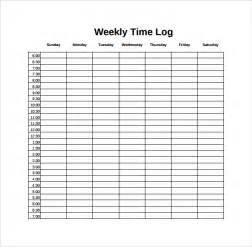 sample weekly log template 9 free documents in pdf