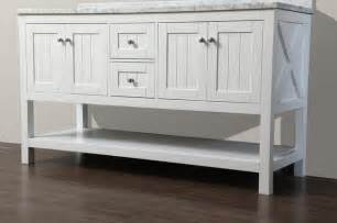 Cottage Style Vanity Emily 60 Quot Bathroom Vanity Cottage Style White Style Bathroom Vanities And Sink