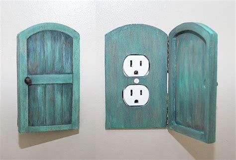 Bedroom Power Outlet Wooden Rustic Decorative Hobbit Door Outlet