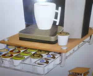 nib smart works bamboo top coffeepod drawer keurig k cup